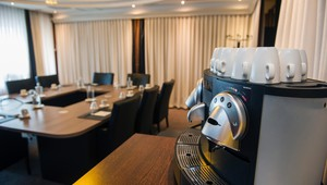 Meeting room with Nespresso machine