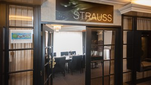 Entrance to the Strauss room