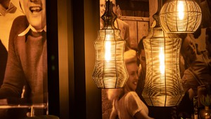 Atmospheric lamps at the bar
